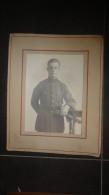 14 V - Ancien Grand Portrait Militaire Belge G Prévinaire Photo Rue Pepin Namur - Persone Identificate