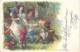 Sneeuwwitje En De Zeven Dwergen (sprookje - Kabouters) - Cartes Postales
