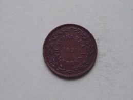 1821 - HALF PENNY Token ( Rare ) KM A 4 ( Uncleaned / For Grade, Please See Photo ) ! - Sainte-Hélène