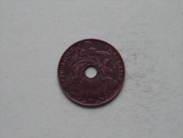 1917 A - 1 Cent Française Indo-Chine / KM 12.1 ( Uncleaned / For Grade, Please See Photo ) ! - Colonies