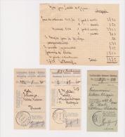 3 Quittances Pour Mandat De Poste - 3 Empfangschein Für Eine Postanweisung - Poste De Chippis En 1927 + 1 Feuille Notice - Suisse