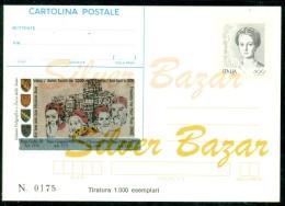 INTERO POSTALE - INTERI POSTALI - CARTOLINA POSTALE - IPZS - I.P.Z.S-ROMA-PAPI-ANNO SANTO-PASQUA-GIUBILEO - Entiers Postaux