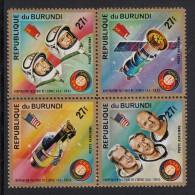 Burundi MNH Scott #C216 Block Of 4 27fr Apollo Soyuz Space Test Project - 1970-79: Neufs