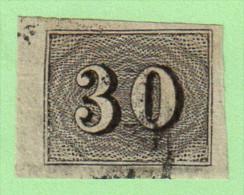 BRZ SC #23 1850 Numeral, CV $3.50 - Brazil