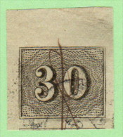 BRZ SC #23  1850 Numeral 4 Lg Margins, CV $3.50 - Used Stamps