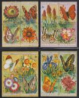 Burundi Used Scott #435-#440, #C187-#C192 Set Of 12 Blocks Of 4 Each Flowers And Butterflies - Burundi