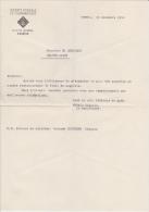 Lettre De Commande Pour 30 Blocs De Magnésie Par La Société De Fédérale De Gymnastique De Chippis - Suisse