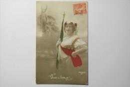 Cpa  Patriotic 1064 Vive L'Italie En 1918  - TA01 - Patriottiche