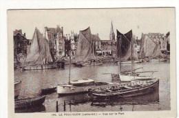 Cpa  Le Pouliguen  Vue Sur Le Port - Le Pouliguen