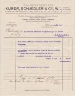 Facture / Faktura / Rechnung Von Fahnenstickerei Kurer, Schaedler & Cie In Wil Kanton St. Gallen - 5.8.1927 - Suisse