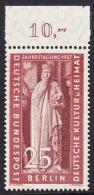 !a! BERLIN 1957 Mi. 173 MNH SINGLE W/ Top Margin (c) -Congress Of Eastern German Cultural Council - [5] Berlin