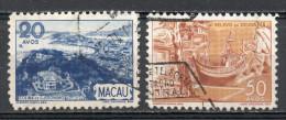 China Chine : (6127) 1948 Macao - Vues De Macao SG415,417(o) - 1999-... Sonderverwaltungszone Der China