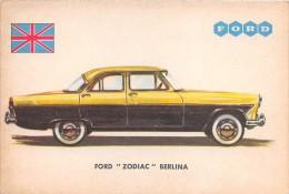 "02746 ""FORD ZODIAC BERLINA"" AUTO - CAR - FIGURINA ORIGINALE - ORIGINAL TRADING CARD. SIDAM - TORINO. 1961 - Motori"