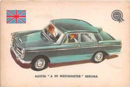 """02750 """"AUSTIN A 99 WESTMINSTER BERLINA"""" AUTO - CAR - FIGURINA ORIGINALE - ORIGINAL TRADING CARD. SIDAM - TORINO. 1961 - Motori"""