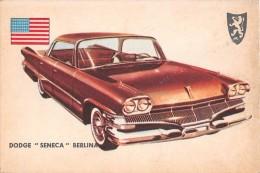 """02754 """"DODGE SENECA SEDAN""""  CAR.  ORIGINAL TRADING CARD. """" AUTO INTERNATIONAL PARADE, SIDAM - TORINO"""". 1961 - Engine"""
