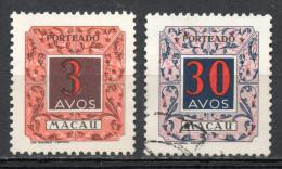 "China Chine : (6128) 1952 Macau Macao - ""arc-en-ciel"" Postage Due SG D452*, D455(o) - China"