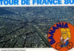 """CYCLISME  """"  /     TOUR DE FRANCE 1980   ARRIVEE PARIS SUR LES CHAMPS  / BANANIA      """"  CPSM / CPM  10 X 15   TTBE - Cyclisme"""