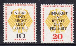 !a! BERLIN 1957 Mi. 174-175 MNH SET Of 2 SINGLES -German Bundestag At Berlin - [5] Berlin