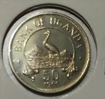 @Y@  Oeganda    50 Centimes 1966 BU    (2807) - Ouganda