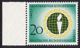 !a! BERLIN 1957 Mi. 177 MNH SINGLE W/ Left Margin -World-Combatant-Congress , Berlin - [5] Berlin