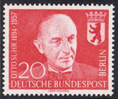 !a! BERLIN 1958 Mi. 181 MNH SINGLE -Prof. Otto Suhr - [5] Berlin