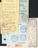 (1177) Postgiro Konto, Postscheckamt, Postbank, Ca. 50 Einzahlungs-Quittungen Aus LUDWIGSHAFEN PGiroA, 80er-Jahre - Correo Postal