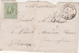 MAASLUIS - 1874 -  +Cachet PD +  Stamp 20 C  Green -72 - Postal History