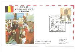 76937)  FDC Della Visita Di Ss.giovanni Paolo II In BENELUX-visita A  LOUVEIGNE-21-5-1985 - Cartoline Commemorative