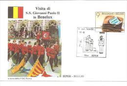76945)  FDC Della Visita Di Ss.giovanni Paolo II In BENELUX-visita A IEPER-17-5-1985 - Cartoline Commemorative