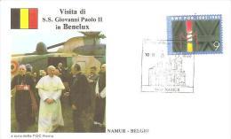 76948)  FDC Della Visita Di Ss.giovanni Paolo II In BENELUX-visita A NAMUR-18-5-1985 - Cartas Commemorativas