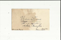 Carte De Visite De Mr Urbain Brunet (Commis De Contributions Indirectes A Melun 77 Voir Scan - Visitekaartjes