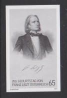 Austria Österreich Black Print - Schwarzdruck Mi 2910 - 200th Anniversary Of The Birth Of Franz Liszt - 2011 - 2011-... Gebraucht