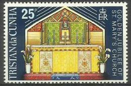 Tristan Da Cunha - 1973 St. Mary's Church 25c MNH **     SG 176    Sc 180 - Tristan Da Cunha
