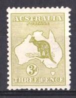 Australia 1913 Kangaroo 3d Olive 1st Watermark Die II MH - Listed Variety - Mint Stamps