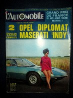 L´AUTOMOBILE #279 Aout1969 Auto Voiture Car Wagen Sport Course Formule 1 Rallye: Essais OPEL Diplomat /  MASERATI Indy ! - Auto/Moto