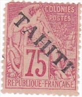 17 Timbre Surchargé    1 Dent Juste (disponible De Suite) - Tahiti (1882-1915)