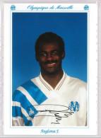 Carte Postale Olympique De Marseille - OM Saison 1992/1993 AnglomaJocelyn 27 Ans 72 Kg 1m79 - Calcio