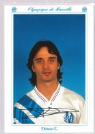 Carte Postale Olympique De Marseille - OM Saison 1992/1993 Di MecoEric 28 Ans 75 Kg 1m80 - Calcio