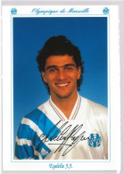 Carte Postale Olympique De Marseille - OM Saison 1992/1993 EydelieJean-Jacques 26 Ans 70 Kg 1m70 - Calcio