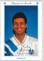 Carte Postale Olympique De Marseille - OM Saison 1992/1993 DurandJean-Philippe 31 Ans 71 Kg 1m77 - Calcio