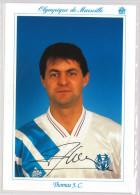 Carte Postale Olympique De Marseille - OM Saison 1992/1993 ThomasJean-Christophe 27 Ans 79 Kg 1m83 - Calcio