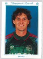 Carte Postale Olympique De Marseille - OM Saison 1993/1994 RoussetGilles 30 Ans 91 Kg 1m96 - Calcio