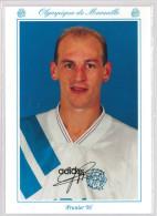 Carte Postale Olympique De Marseille - OM Saison 1993/1994 PrunierWilliam 26 Ans 83 Kg 1m84 - Calcio