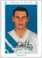 Carte Postale Olympique De Marseille - OM Saison 1993/1994 BoghossianAlain 22 Ans 81 Kg 1m85 - Calcio