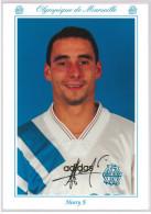 Carte Postale Olympique De Marseille - OM Saison 1993/1994 HenryFabrice 25 Ans 71 Kg 1m75 - Calcio