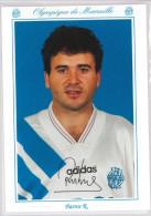 Carte Postale Olympique De Marseille - OM Saison 1993/1994 Rui BarrosGil 27 Ans 60 Kg 1m59 - Calcio