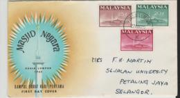 Mly022/ National Monument 1965 FDC - Malaysia (1964-...)