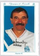 Carte Postale Olympique De Marseille - OM Saison 1993/1994 Marc Bourrier - Calcio