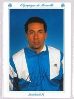 Carte Postale Olympique De Marseille - OM Saison 1993/1994 Henri Stambouli - Calcio
