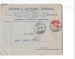 12388 VIVIANI CATTELAN PETROLIO BENZINA TRASPORTI FLUVIALI MARITTIMI DONADA X ESTE - Storia Postale